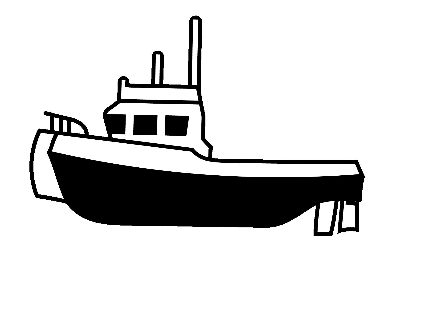 Tugboat Media - Tugboat PNG Black And White