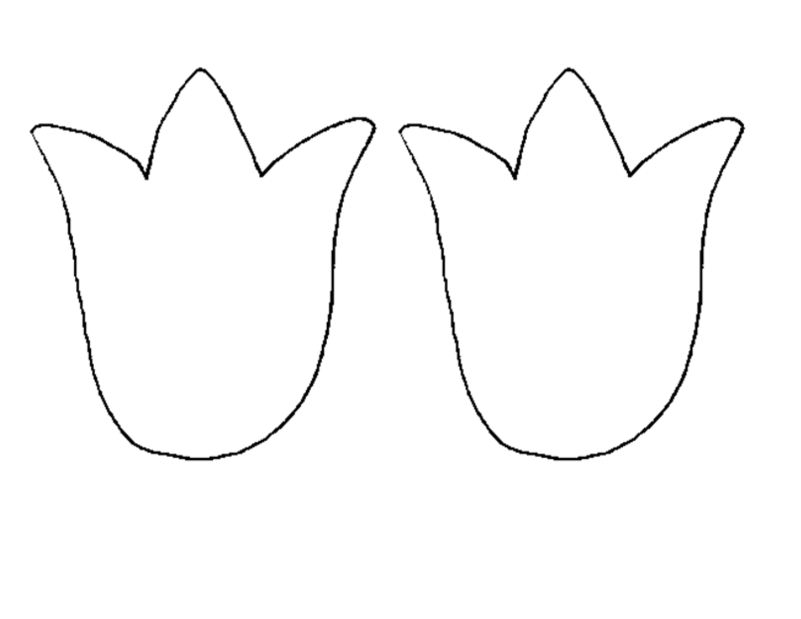Tulip PNG Outline - 81453
