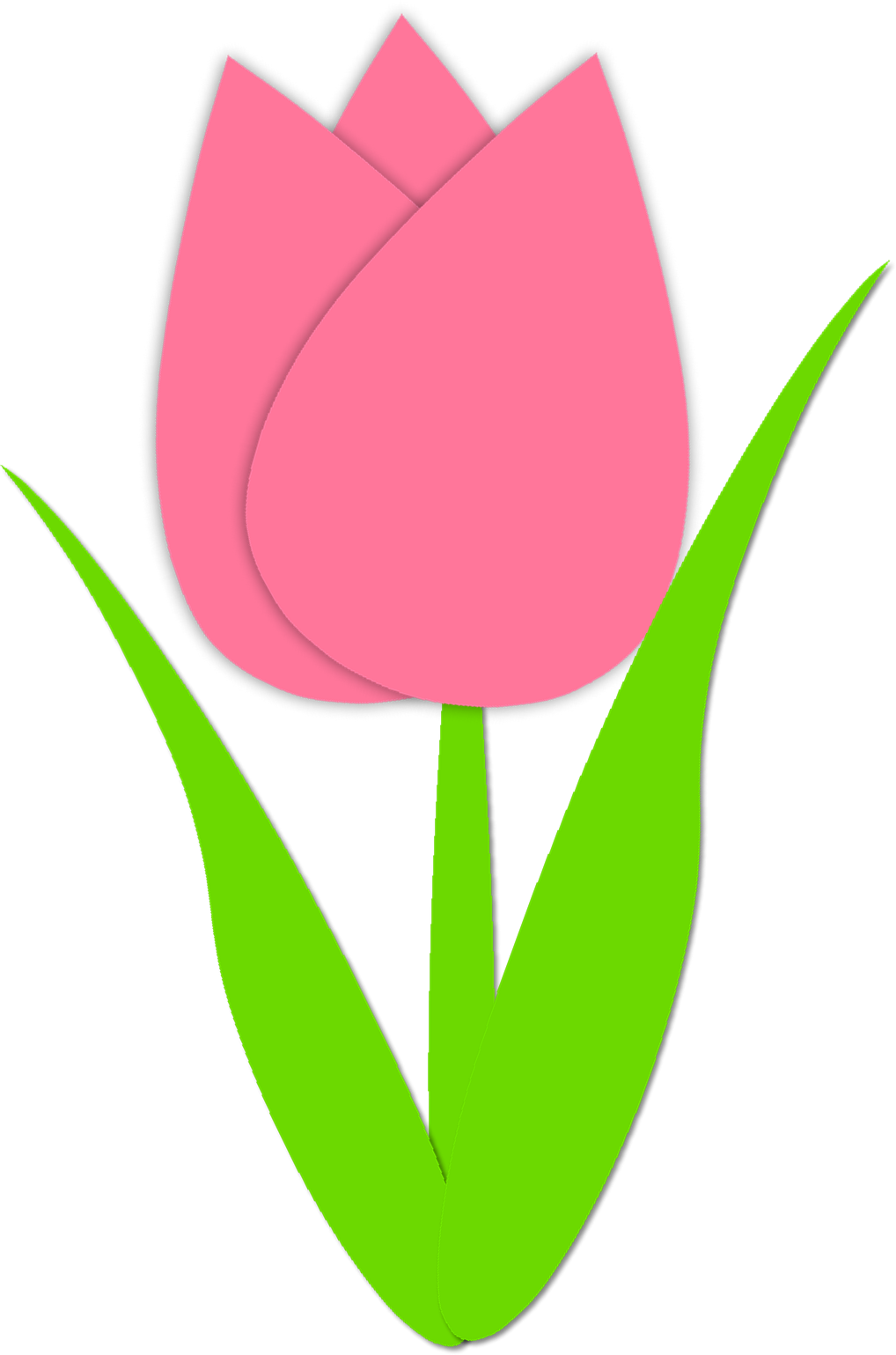 Tulip PNG Outline - 81451