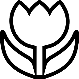 Tulip PNG Outline - 81452