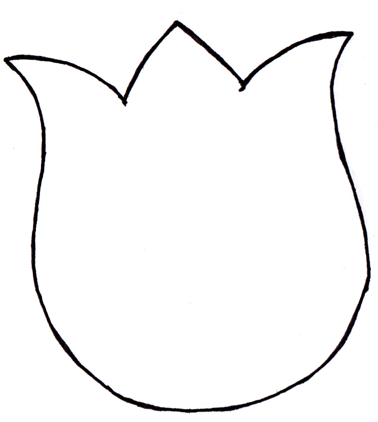 Tulip PNG Outline - 81456