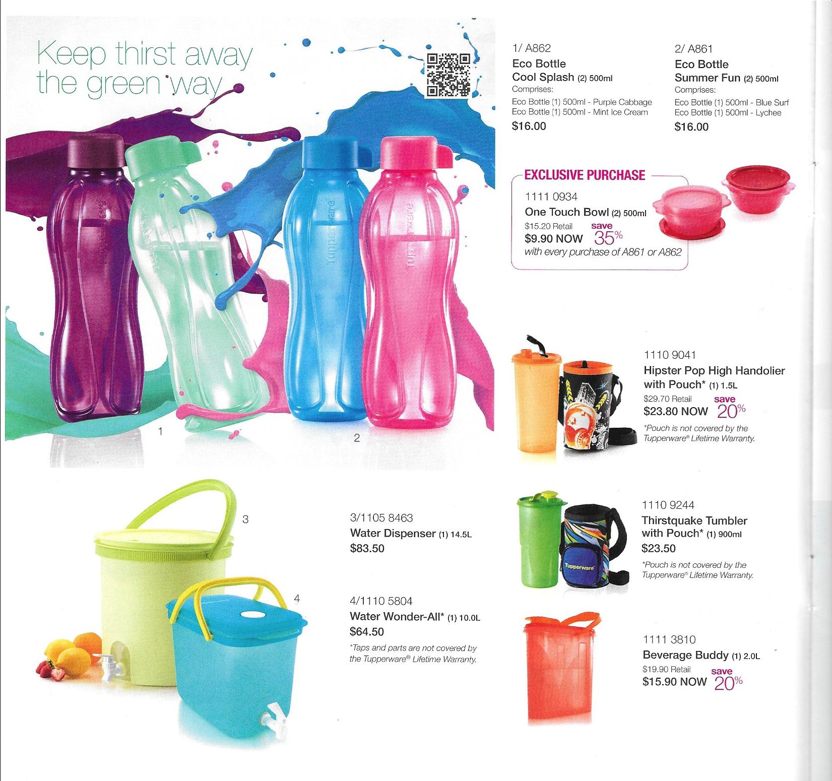 1L flip top eco bottles BPA f