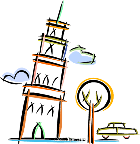Schiefer Turm von Pisa Vektor Clipart Bild - Turm Bauen PNG