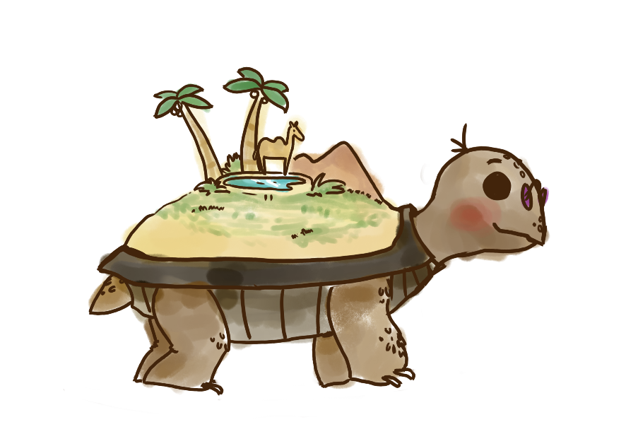 Idk itu0027s like a turtle with sand on its back by chichinana PlusPng.com  - Turtle On Its Back PNG