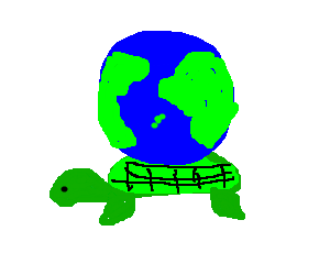 Turtle Carrying whole world on its back - Turtle On Its Back PNG