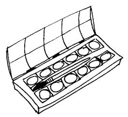 Farbkasten - Farbkasten, Tuschkasten, Malkasten, Deckfarbkasten,  Wasserfarbkasten, malen, tuschen, - Tuschkasten PNG