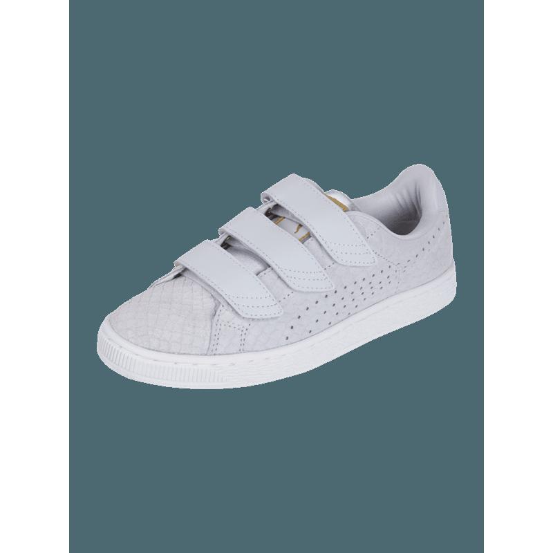 Sneaker aus Veloursleder mit Reptilien- Struktur - Basket Velcro Pr  OutletAusgang KRRMJQ2M - Tuschkasten PNG
