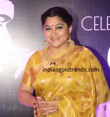 kushboo-in-tussi-necklace-at-chiru-60th-birthday- - Tussi PNG