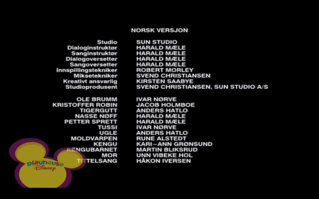 The New Adventures of Winnie the Pooh Norwegian Credits.png - Tussi PNG