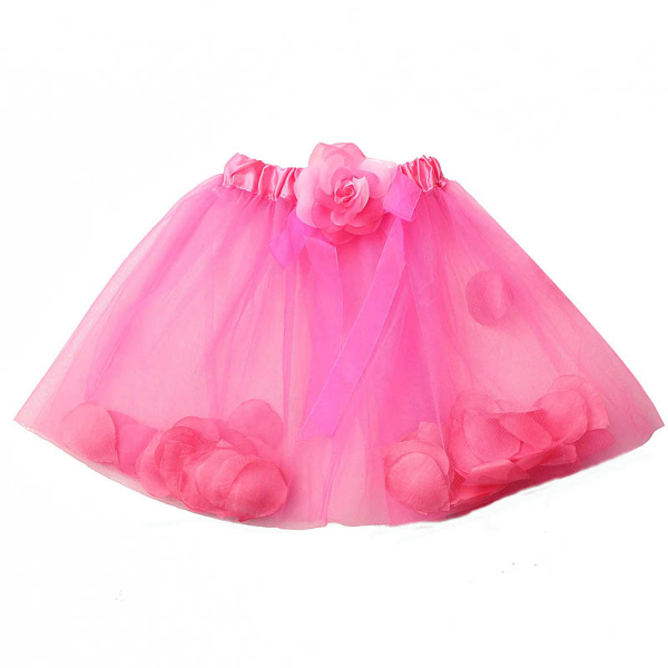 Baby Girls Petal Princess Skirt Fancy Tutus Dance Dress - Tutu Skirt PNG