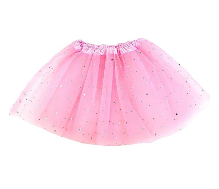 Hot-Sale-Girls-Sparkle-Sequins-Star-Dance-Ballet- - Tutu Skirt PNG