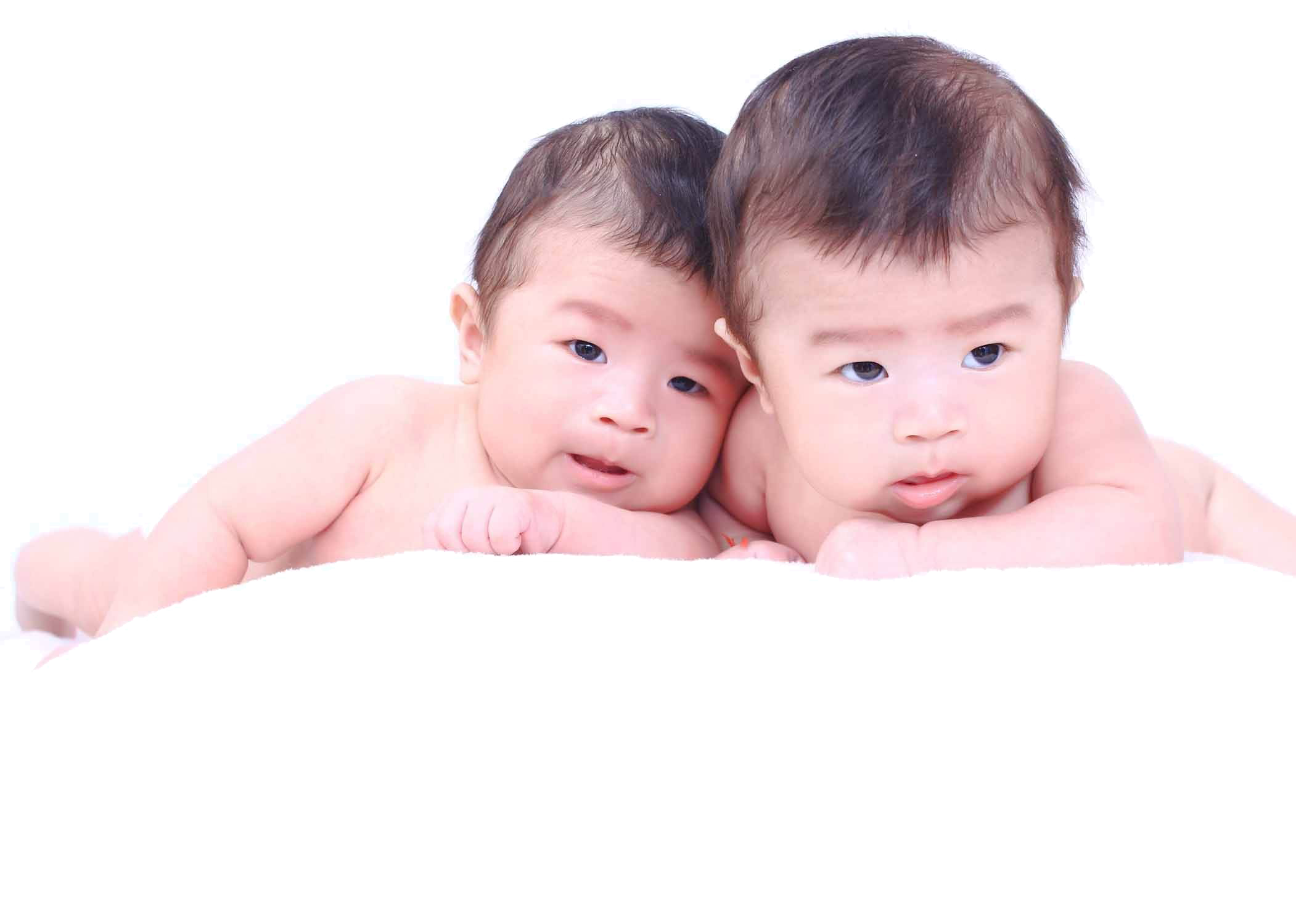 Infant Twin - Twins baby model. Download PNG - Twin Baby PNG HD