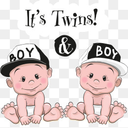 vector baby twins, Baby, Cartoon Baby, Character PNG and Vector - Twin Baby PNG HD