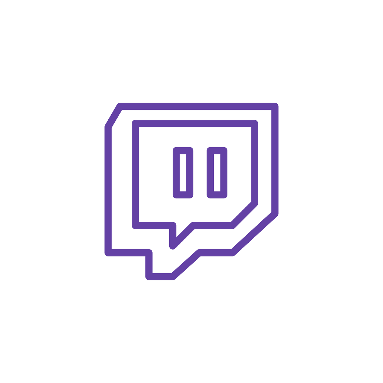 Twitch Icon Logo - Free Vector Graphic On Pixabay - Twitch Logo PNG