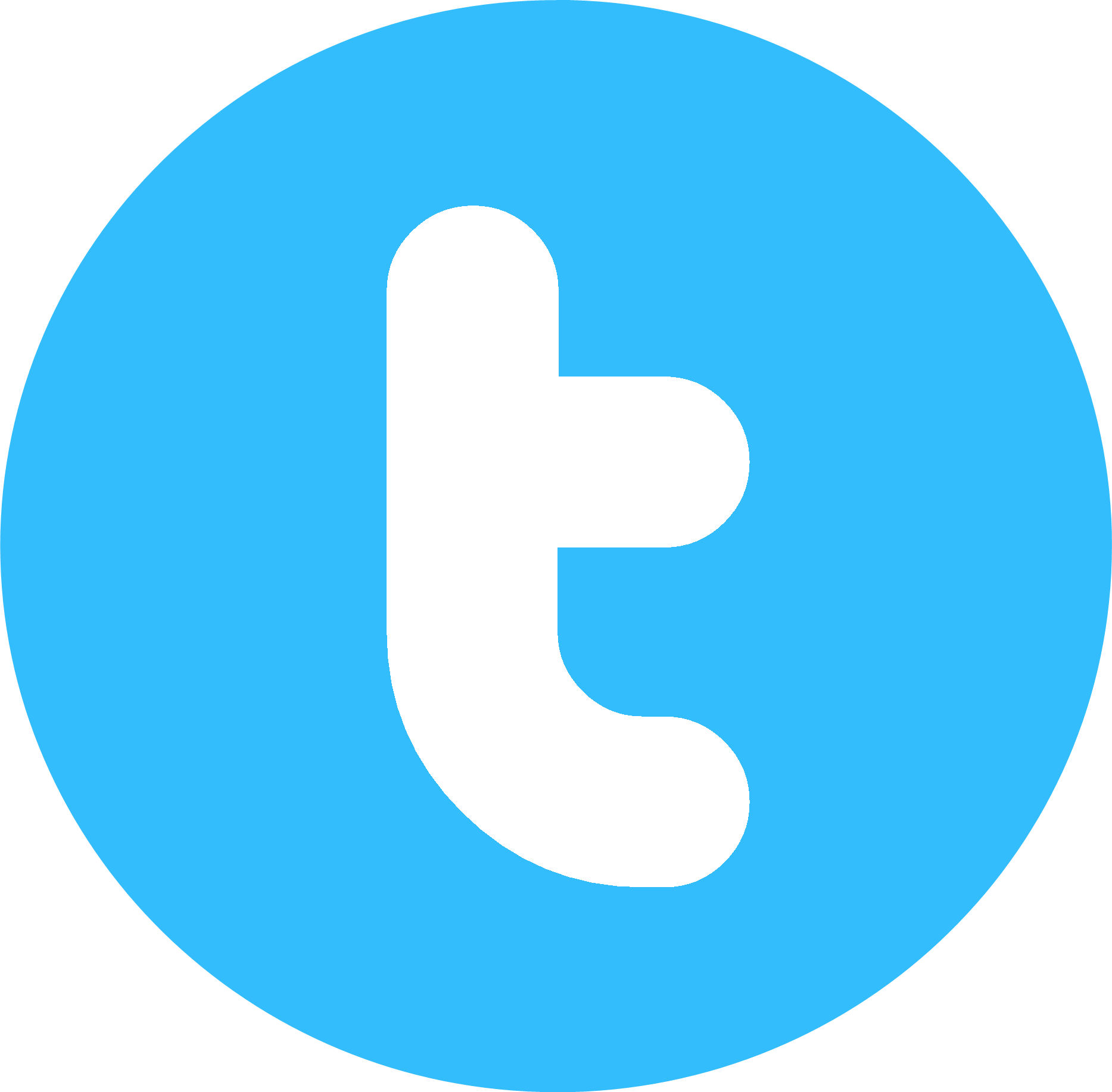 Social Twitter Button Blue Ic