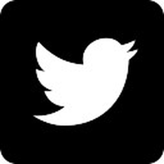 Twitter logo on black background - Twitter Logo Vector PNG