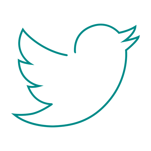 Blue twitter bird line icon.svg Transparent PNG - Twitter PNG