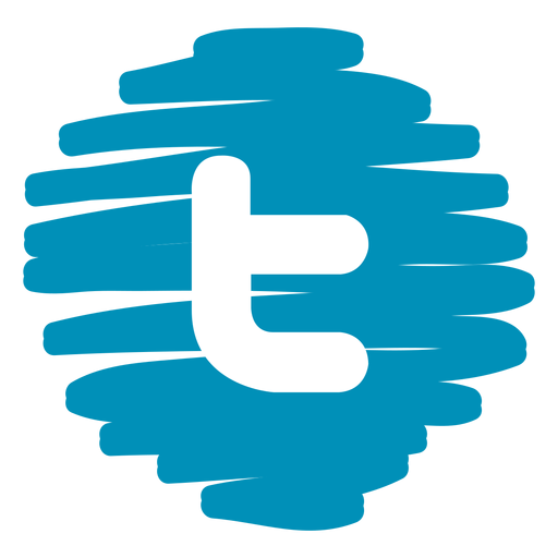 Twitter distorted round icon - Twitter PNG