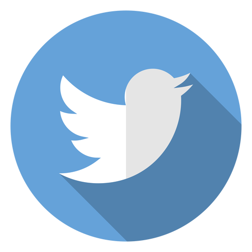 Twitter distorted round icon
