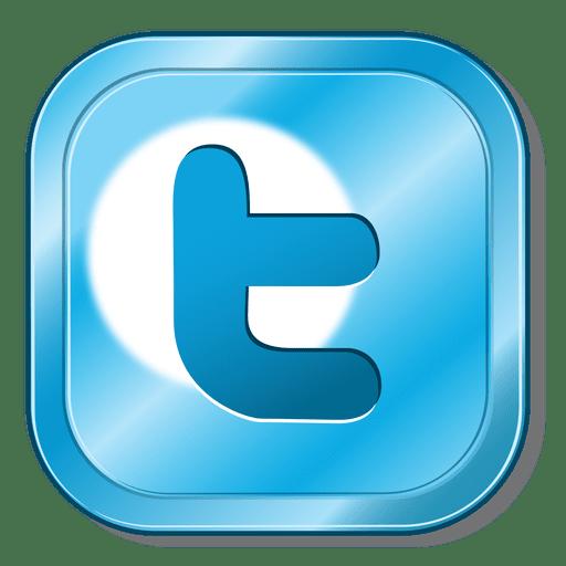 Twitter metallic button Transparent PNG - Twitter PNG