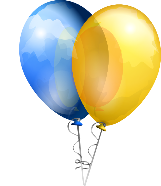 Download this image as: - Two Balloons PNG
