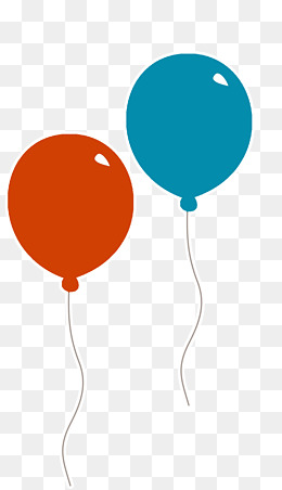 red balloons and blue balloons, Balloon, Two Balloons, Childhood PNG and PSD - Two Balloons PNG