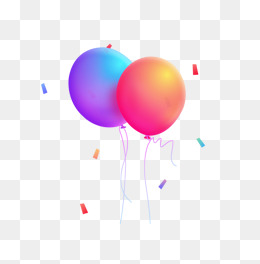 Two balloons, Balloon, Float, Creative PNG Image and Clipart - Two Balloons PNG