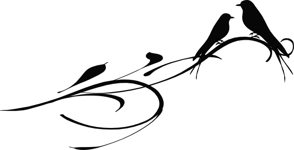 Download this image as: - Two Birds PNG Black And White
