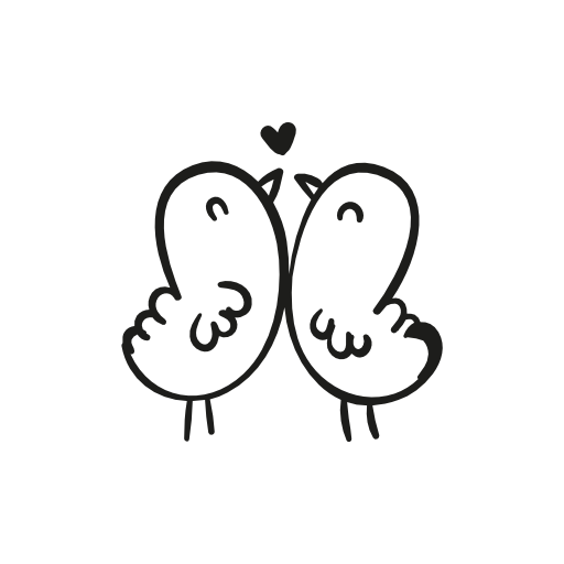 Two bird - Two Birds PNG Black And White