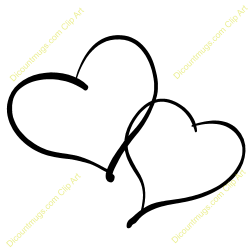 Two Black Heart PNG - 136601