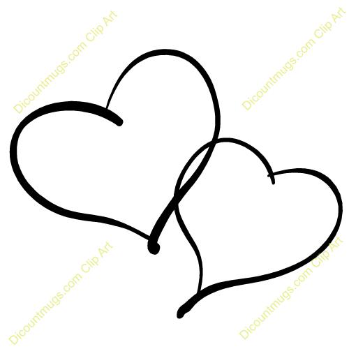 double heart tattoos for women | . PlusPng.com hearts intertwined keywords two hearts  two hearts - Two Black Heart PNG