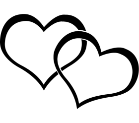 heartstwoval5.png (280×248) - Two Black Heart PNG