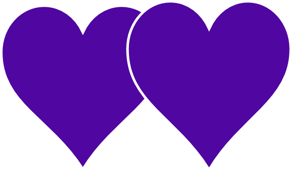 Two Black Heart PNG - 136598
