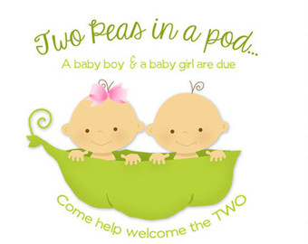 Two Peas in a Pod Baby Shower Invitation (Digital File) - Two Peas In A Pod PNG