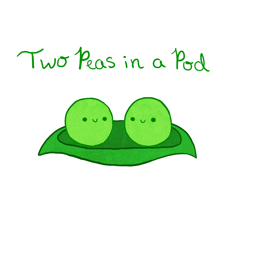 . PlusPng.com Two Peas in a Pod by PettiLeaf - Two Peas In A Pod PNG