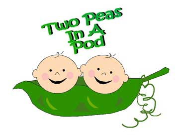 Two Peas In Pod Clip Art Clipart - Two Peas In A Pod PNG