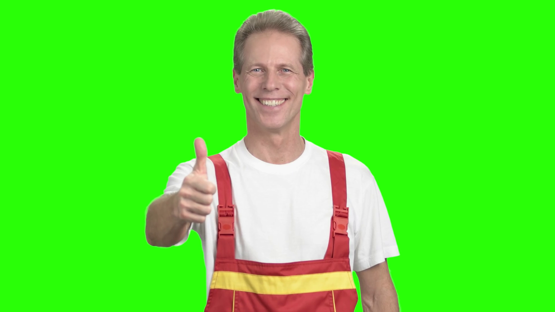 Engineer man showing thumb up sign. Smiling happy worker giving two thumbs  up hand gesture standing on alpha channel background. - Two Thumbs Up PNG HD
