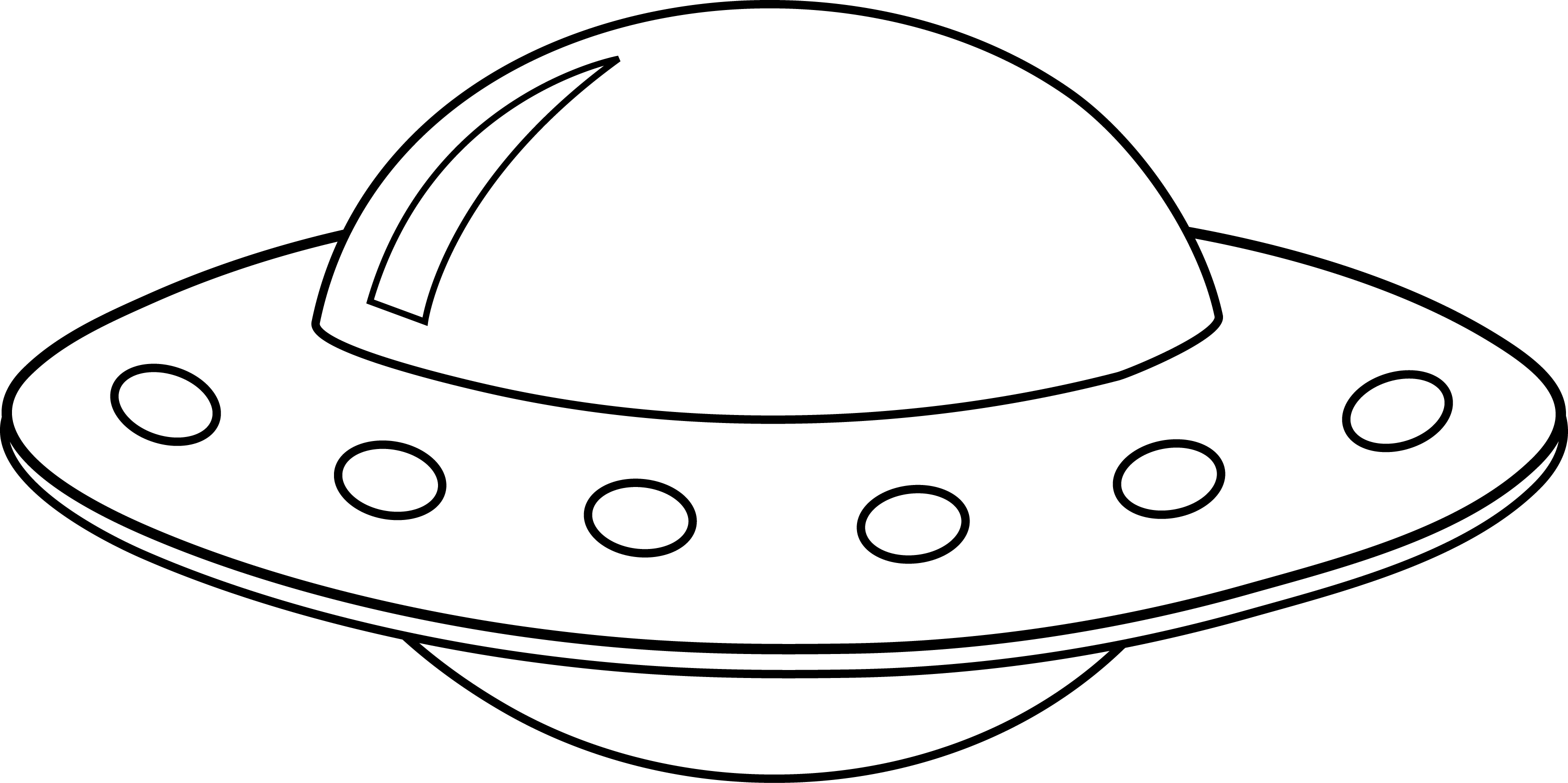 pin Drawn ufo spaceship #2 - Ufo PNG Black And White