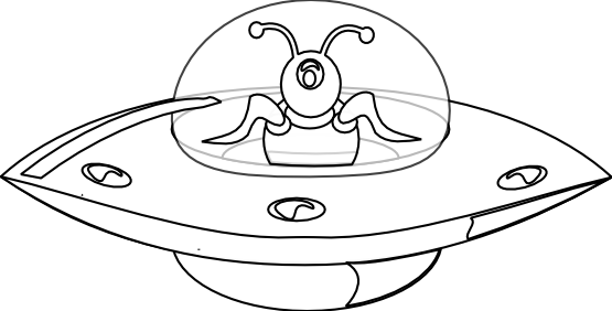 pin UFO clipart black and white #2 - Ufo PNG Black And White