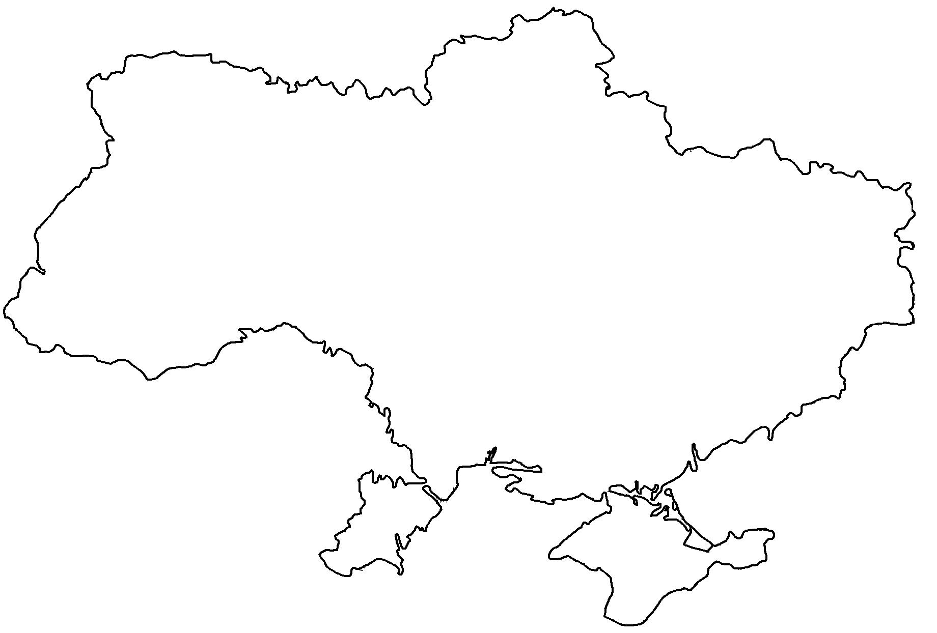 Blank map of Ukraine.png - Ukraine PNG