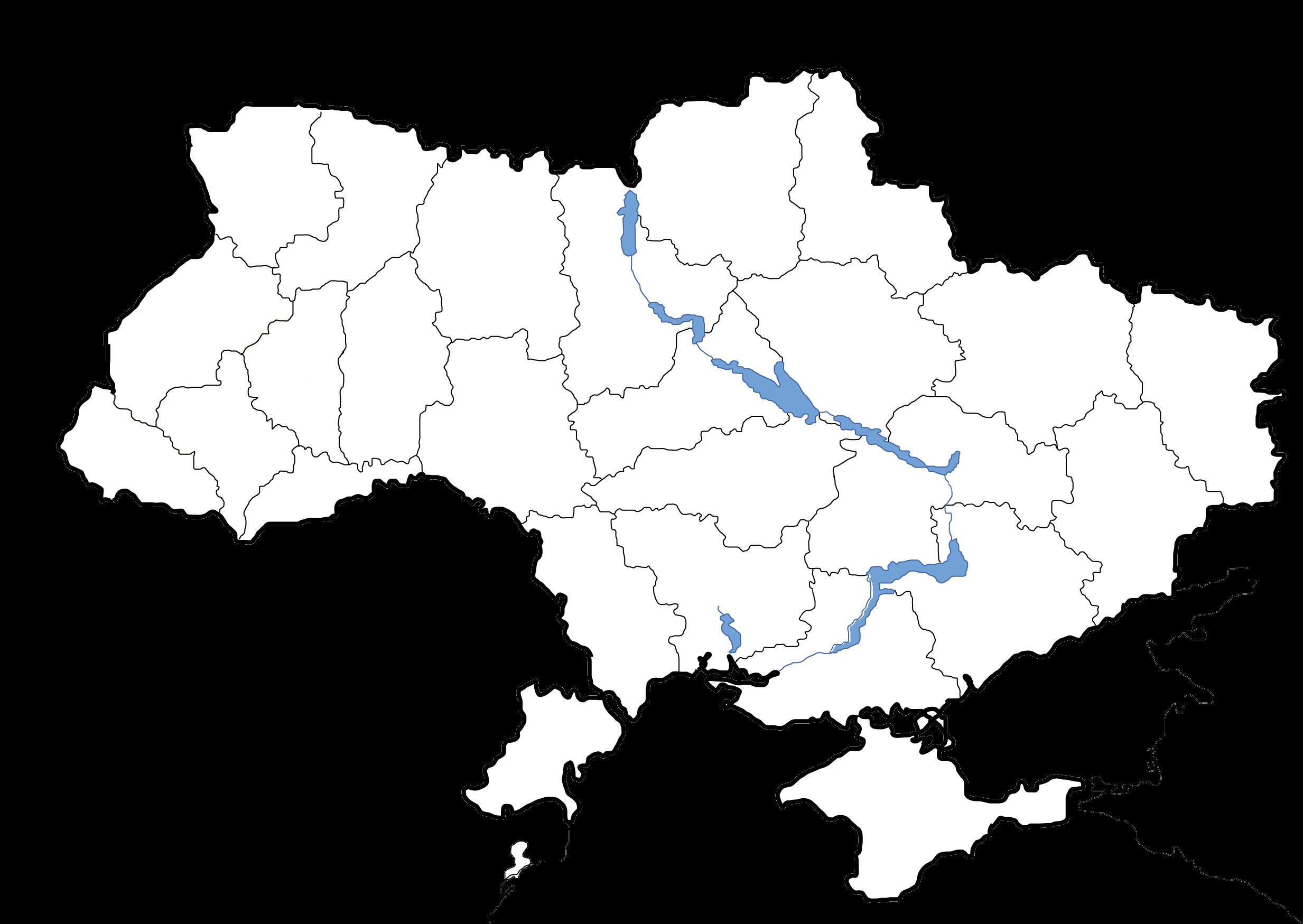 File:Map of Ukraine political simple blank.png - Ukraine PNG