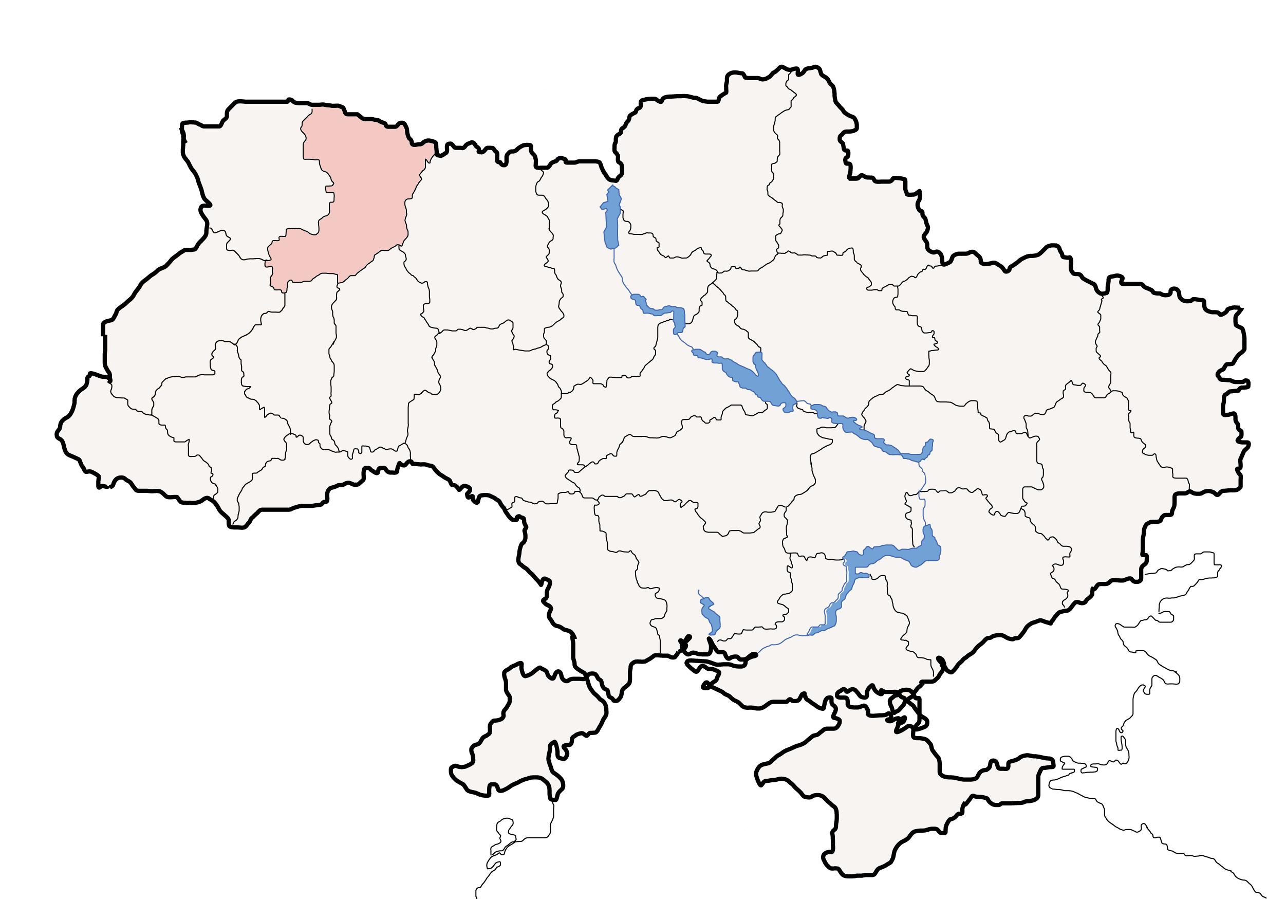 File:Map of Ukraine political simple Oblast Rivne.png - Ukraine PNG