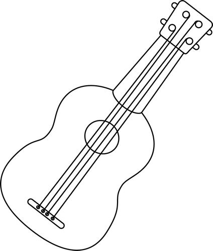Ukulele PNG Black And White