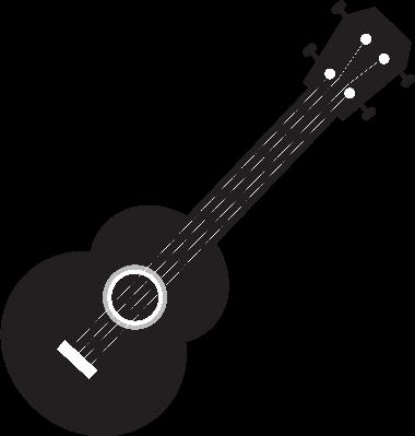 ukulele clipart no white - Ukulele PNG Black And White