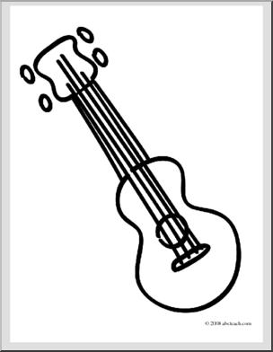Ukulele Cliparts Black #2613574 - Ukulele PNG Black And White