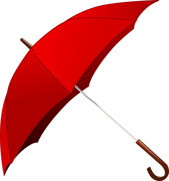 Umbrella, Rain, Red, Weather,
