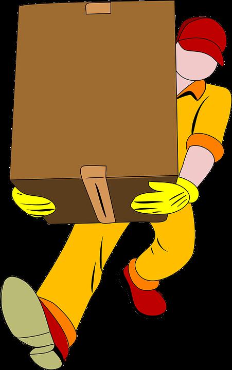 Umzug, Bewegen, Tragen, Aufzug, Zu Fuß, Paket, Verkehr - Umzug Cartoon PNG