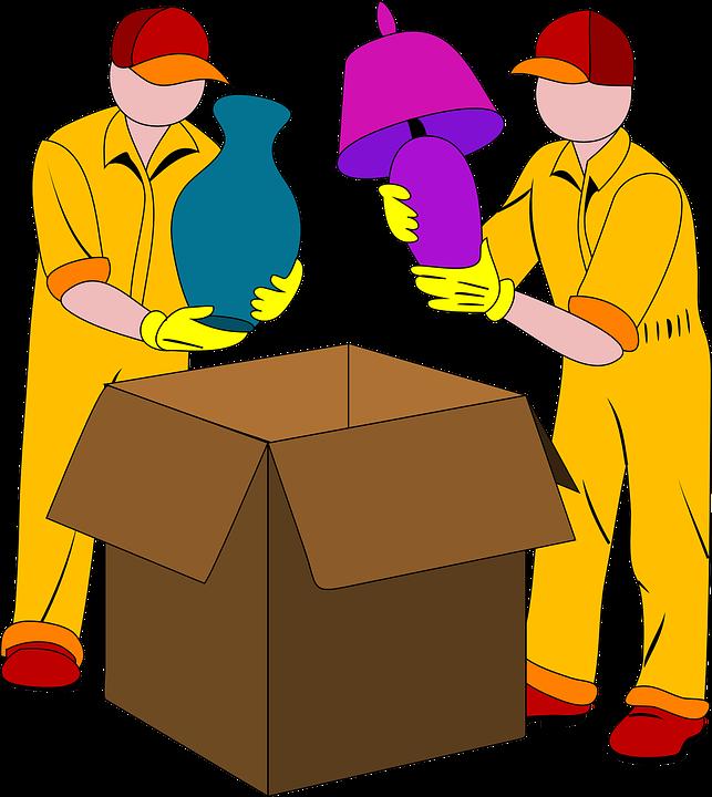 Umzug, Verpackung, Box, Licht, Vase, Pack, Karton - Umzug Cartoon PNG