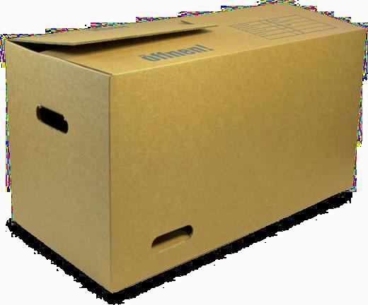 Dadurch, dass der Umzugskarton weniger oft wiederverwendet werden kann als  eine Mehrweg-Kiste, entstehen auch regelmässiger Abfälle. - Umzugskartons PNG