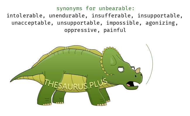 Similar words of unbearable - Unbearable PNG